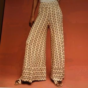 Anthropologie Farm Rio Striped Wide Leg Pants